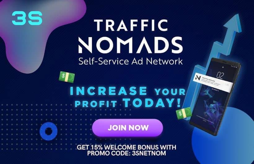 [:ru]traffic nomads 3snet bonus promocode[:]